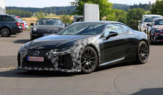 New Lexus LC F coupe spy shots