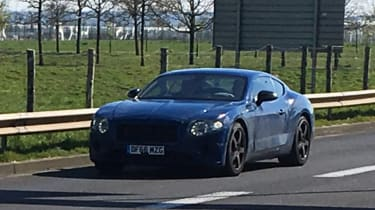 Bentley Continental GT spied - front