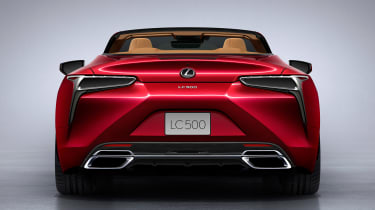 Lexus LC Convertible - full rear red