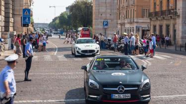 Mercedes SL Mille Miglia 417 - head on