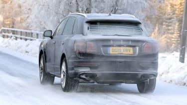 Bentley Bentayga - spies - rear tracking