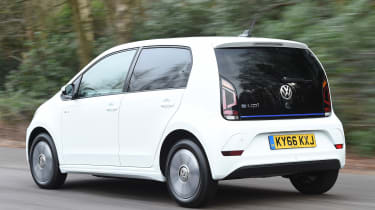 Volkswagen e-up! electric car 2017 - rear tracking
