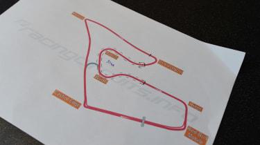 Map of racetrack