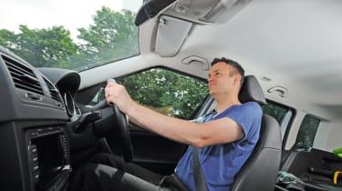 Skoda Yeti driving