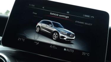 Mercedes GLC long-term fourth report - infotainment screen