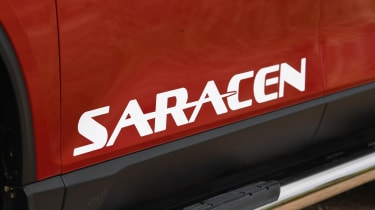 SsangYong Musso long term review - saracen decal