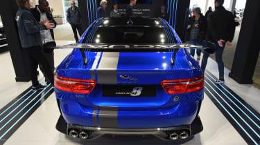 Jaguar XE SV Project 8 - blue Goodwood full rear