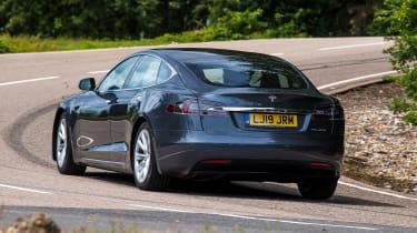 Tesla Model S - rear cornering