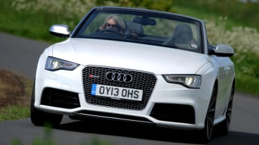 Audi RS5 Cabriolet front cornering