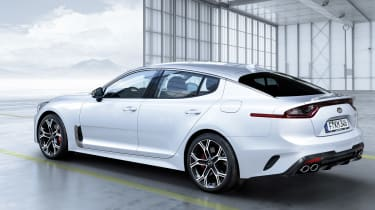 Kia Stinger GT - rear static white