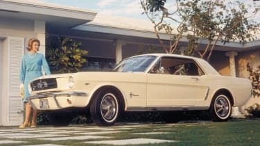 Ford Mustang - side profile advert poster
