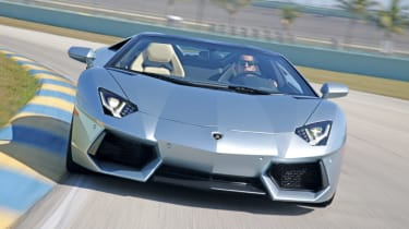 Lamborghini Aventador Roadster front cornering