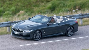 BMW 8 Series Convertible - spyshot side
