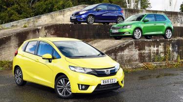 Honda Jazz vs Nissan Note vs Skoda Fabia