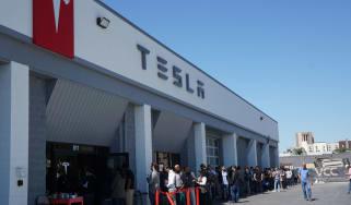 Tesla Model 3 customers queue