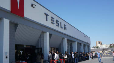 Tesla Model 3 customers queue
