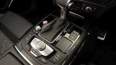 Audi S7 gear stick detail