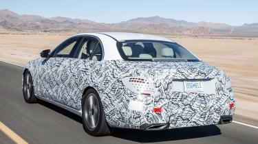 Mercedes E-Class development car rear tracking