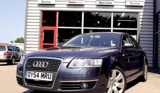 Front view of Audi A6