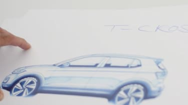 Volkswagen T-Cross teaser - drawing