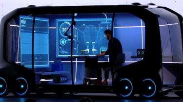 Toyota e-Palette - CES presentation interior