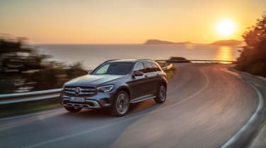 Mercedes GLC - front sunset