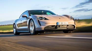 Porsche Taycan RWD - front action
