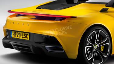 Lotus sports car - rear detail (watermarked)