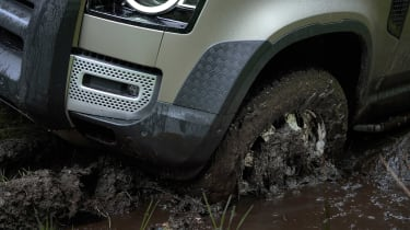 2019 Land Rover Defender in mud