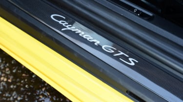 New Porsche Cayman GTS review - sill badge