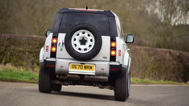 Land Rover Defender 90 D250 - rear cornering