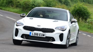 Kia Stinger long-term test: first report - front cornering
