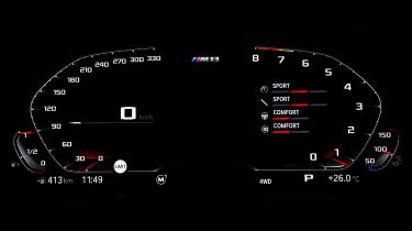 BMW M8 - dials