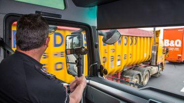 Police spy lorries