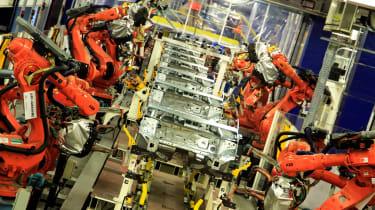 Peugeot's Sochaux factory 3008 production line
