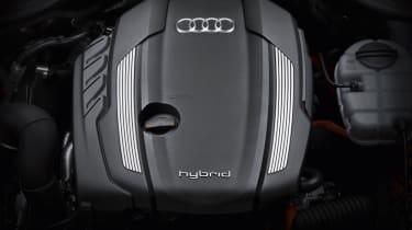 Audi A8 Hybrid under the bonnet