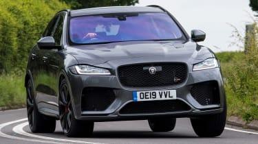 Jaguar F-Pace SVR - front cornering