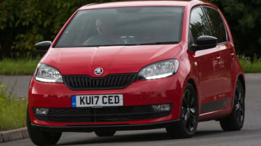 Triple test – Skoda Citigo - front action