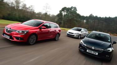 Renault Megane ST vs Vauxhall Astra ST vs Peugeot 308 SW - head-to-head