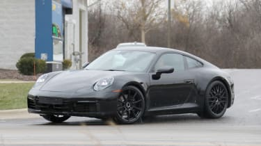 Porsche 911 spy front quarter