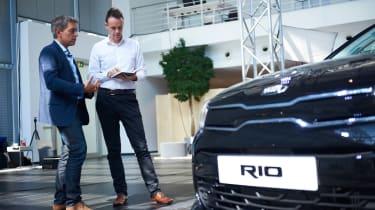 New Kia Rio - reveal event Graham talking