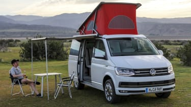 Volkswagen California field camping