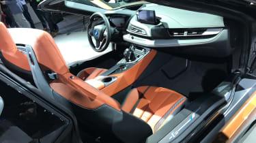 BMW i8 Roadster LA show pics interior
