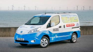 Nissan ice cream van - front static