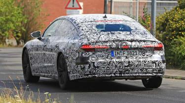 New 2018 Audi A7 spy shot rear quarter