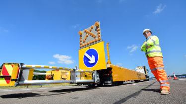 Road barrier truck rear