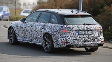 Audi RS4 Avant spies - rear side