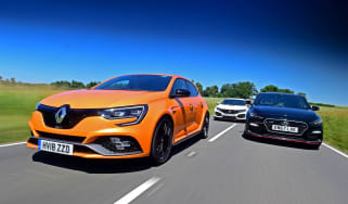 Renault Megane R.S. vs Honda Civic Type R vs Hyundai i30 N - header