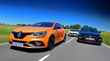 Renault Megane R.S. vs Honda Civic Type R vs Hyundai i30 N - header