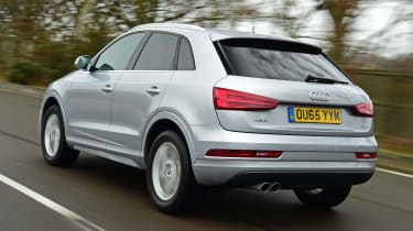 Audi Q3 group test - rear tracking